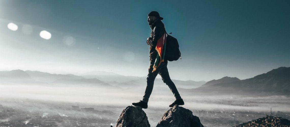 man mountain top